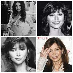 Victoria Principal. So beautiful yet has that plastic surgery look. In LA, you start to get used to it- so, it's nice to move away & get perspective! (although, I don't have much room to talk since her husband was my doctor!)