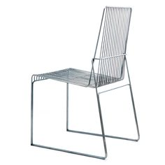 At Stockholm furniture fair, a group of students from Aalto University presented a range of chairs using only three thicknesses of galvanised steel rods.