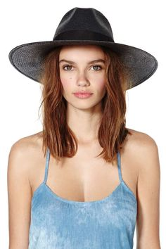 Jordan Panama Hat - Black | Shop Hair + Hats at Nasty Gal