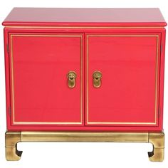 Poppy Lacquered Cabinet by Mastercraft (7,985 CAD) ❤ liked on Polyvore featuring home, furniture, storage & shelves, cabinets, lacquer cabinets, lacquer furniture and gold leaf furniture