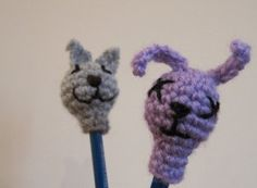 Amigurumi Bunny Pencil Holder : Pencil toppers, Pencil and Crochet on Pinterest