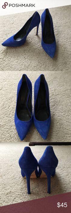 """Rachel Roy blue suede heels 8.5 Great shape. Blue suede. 8.5. 5"""" heel Rachel Roy Shoes Heels"""