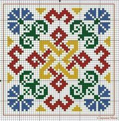 Biscornu Cross Stitch, Cross Stitch Bird, Modern Cross Stitch, Cross Stitch Designs, Cross Stitching, Cross Stitch Embroidery, Square Patterns, Embroidery Patterns, Cross Stitch Patterns