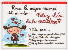 Lindos mensajes para el dia de la madre ✿Teresa Restegui http://www.pinterest.com/teretegui/✿