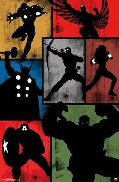 Trends International Marvel Comics - Avengers - Simplistic Grid Wall Poster, x Barnwood Framed Version Marvel Avengers, Marvel Comics, Marvel Art, Marvel Heroes, Avengers Poster, Comic Kunst, Comic Art, Disney Star Wars, Poster Wall