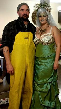 mermaid and fisherman costume