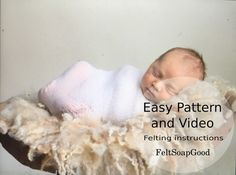 Pattern Set of Instructions and YouTube video by FeltSoapGood