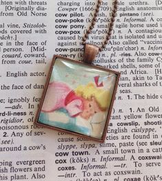 New to roseylittlethings on Etsy: Storybook Necklace Vintage Fairy Tale Pendant Sleeping Little Girl Charm Necklace Vintage Book Goldilocks Pendant Vintage Book Lover (20.00 USD)