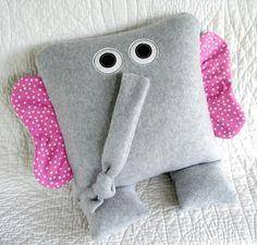 Giraffe, Elephant & Hippo Pillows
