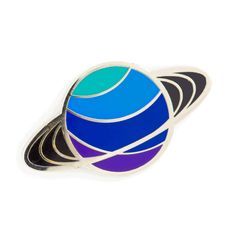 Put a ring on it Silver pin with colored enamel Rubber backing Measures wide Apple Pin, Saturn Planet, Clothing Logo, Dog Pin, Pin And Patches, Cute Pins, Lapel Pins, Planets, Cuff Bracelets