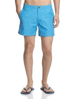 51% OFF Onia Men's Calder 5 Inch Solid Swim Trunk (Aquarius)