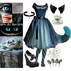 """Corrupted Kitty (Cheshire Cat)"" by quinnfrey ❤ Fandom Outfits, Emo Outfits, Disney Outfits, Scene Outfits, Anime Outfits, Cosplay Casual, Cosplay Outfits, Cheshire Cat Costume, Alice In Wonderland Costume"
