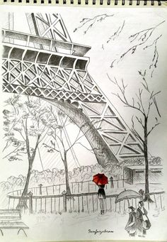 40 Most Beautiful and Detailed Eiffel Tower drawings is part of Eiffel tower drawing - With these most beautiful and detailed Eiffel Tower drawings we intend to inject the art in your genes so you too can try on your hands and live the feel Eiffel Tower Drawing, Eiffel Tower Painting, Pencil Art Drawings, Cute Drawings, Drawing Sketches, Sketching, Dibujos Pin Up, Paris Drawing, Building Sketch