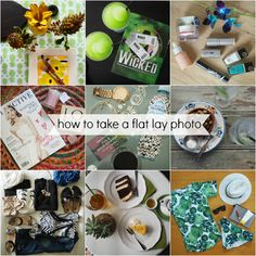 How to take a flat lay photo!