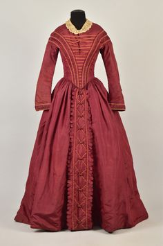 Day dress ca. 1845  From Whitaker Auctions