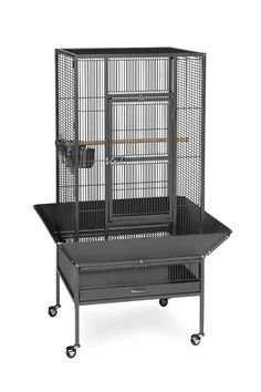 """Parkway Cage in Black Hammertone 24"""" L x 22"""" W x 52 3/4"""" H"""