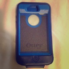 Blue Otterbox IPhone 4 s Lightly used. There is a small rip by the charging flap, but besides that it looks new. OtterBox Accessories