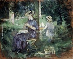 Berthe Morisot Woman and Child in a Garden, 1883-1884, painting Authorized official website