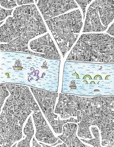 Boroughs Art Print