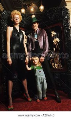 David Bowie with wife Angie and their son Zowie (age 2) in February 1974