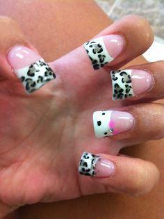 Leopard Print Nails, Beauty, Beauty Illustration