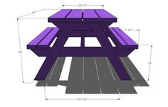 Build a Bigger Kid's Picnic Table - Shopping List: ... 2 – 2×6 Boards, 8′ Long ... 6 – 2×4 Boards, 8′ Long ... 2 1/2″ Screws ...