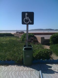 Interesting location of this sign board. Seen at Essaouira beach, Morocco.