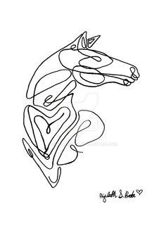 Horse: Single Line Art by ShaharBoda.deviantart.com on @DeviantArt
