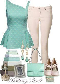 Peplum, mint green ♡