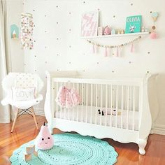 Baby Girl Nursery Design Ideas for Your Cutie Pie - mybabydoo Baby Bedroom, Nursery Room, Girl Nursery, Girl Room, Girls Bedroom, Nursery Decor, Nursery Ideas, Child's Room, Nautical Nursery