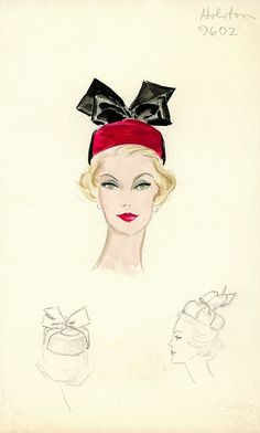 Burgundy Pillbox - Halston Hat