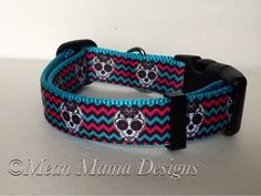 A personal favorite from my Etsy shop https://www.etsy.com/listing/384965218/adjustable-dog-collar-sugar-skulls-blue