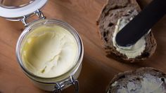 Make Electric Mixer Butter In Minutes  http://www.rodalesorganiclife.com/food/easiest-fresh-butter-recipe-ever