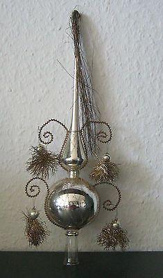 Antique German Glass Christmas Ornament ,Topper