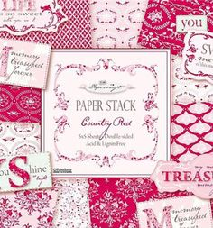 Tilda Paper Stack: Country Red - Tone Finnanger - Other Crafts ...