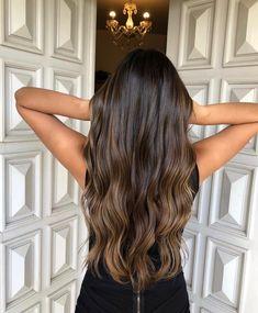 Balayage Straight Hair, Brown Hair Balayage, Balayage Brunette, Brunette Hair, Hair Highlights, Ombre Hair, Honey Brown Hair, Honey Blonde Hair, Brown Hair Shades