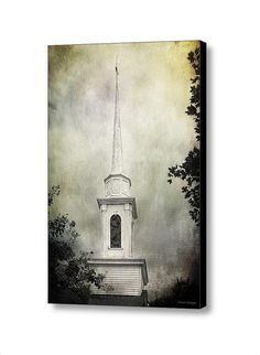 Church Steeple Gothic Romance Architectural Landscape Artistic Fine Art Photography Giclee Large Gallery Wrap Canvas