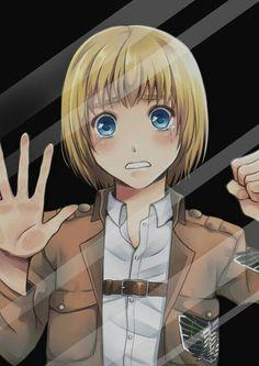 Armin Arlert, glass mirror screensaver, crying, sad; Attack on Titan