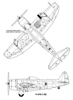 151 WW II Lockheed P-38 Lightning Blueprint Plan