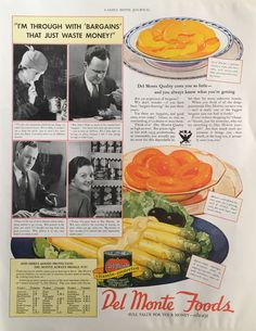 1933 Del Monte Foods Magazine Ad from Ladies' Home Journal
