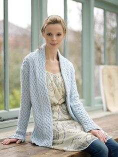 Cabled Jacket in Debbie Bliss Rialto DK - Digital Version | Free Knitting Patterns | Knitting Patterns | Deramores