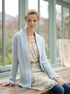 Cabled Jacket in Debbie Bliss Rialto DK - Digital Version | Free Knitting Patterns | Knitting Patterns | Deramores