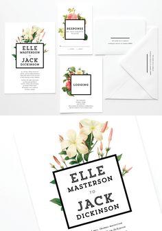 Limited edition botanical illustration wedding invites from @AnticipateInv