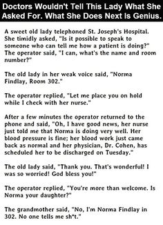 Doctors Wouldn't Tell This Lady What She Asked For So What She Does Next Is Genius.  #LOL #Funny #GrandmaJokes