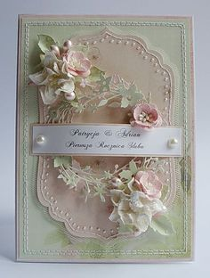 Riddersholm Design: Pastel--Simple and beautiful. Wedding Anniversary Cards, Wedding Cards, Shabby Chic Cards, Spellbinders Cards, Beautiful Handmade Cards, Heartfelt Creations, Pretty Cards, Card Tags, Scrapbook Cards