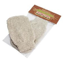 These luxurious bathing accessories, massage and exfoliating gloves and back scrubs have properties blended to create a real feeling of freshness. Ideal for exfoliating, removing dead skin cells and leaving your skin soft and renewed. Perfect for spa and massage centres these scrubs and sponges are completely biodegradable and therefore environmentally friendly.