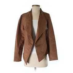 Mossimo Faux Leather Jacket ($21) ❤ liked on Polyvore featuring outerwear, jackets, brown, leather look jackets, imitation leather jacket, faux leather jacket, brown jacket and mossimo