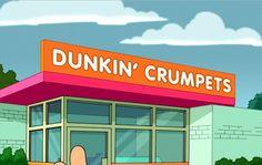 Dunkin' crumpets futurama British timeline