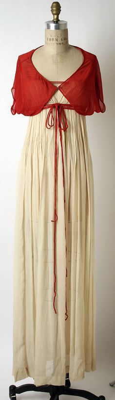 Silk evening ensemble, late 40s or 50s, Claire McCardell