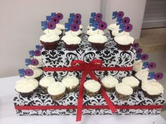 50th cupcakes for their 50th birthday!